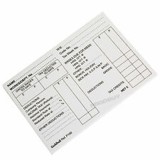 """100 Sheet Pad 3.5"""" x 5"""" Guildhall Pre-Printed PAYE Wage Pay Slips Payslips Wages"""