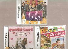 PONEY LOVE + PLUS BELLE LA VIE + VETERINAIRE !! 3 JEUX NEUFS Pour Filles. DS/3DS