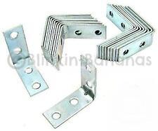 "10 X 2"" Corner Brackets Zinc Plated L Shape Brace Angle Joint Shelf Supports 15b"