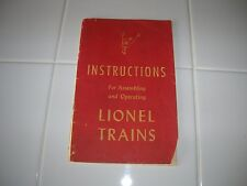 Vintage Lionel 1947 Operating Instructions Book complete