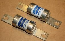 Qty 2 Lawson TCP100, 100A, Industrial Fuse Bolted Connections,Offset Tag