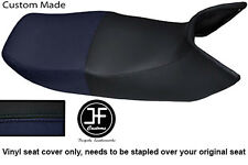 BLACK AND NAVY BLUE VINYL CUSTOM FOR HONDA PAN EUROPEAN ST 1100 DUAL SEAT COVER