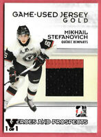 2015-16 Mikhail Stefanovich ITG Final Vault 09-10 Heroes & Prospects Jersey -1/1