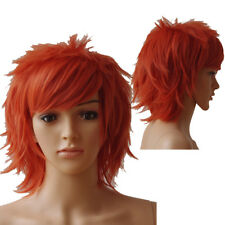 Unisex Male Female Straight Short Hair Wig Cosplay Party Anime Full Wigs Tr5