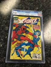 """X-Force #11 CGC 9.8 """"Real"""" Domino 1st appearance Deadpool/X-Men White Pages"""
