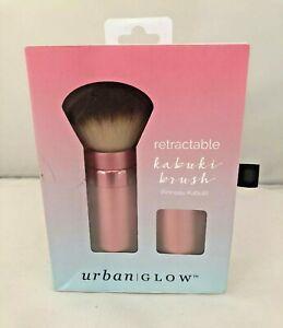 Women's Urban / Glow  Retractable Kabuki Brush Brand New Gold Pink SUPER CUTE