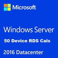 Microsoft Windows Server 2016 Datacenter Edition + 50 Device RDS Cals