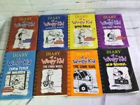 Lot of 8 Diary of a Wimpy Kid Series Books by Jeff Kinney Hardcover & Paperbacks