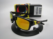 Oakley Limited Edition Valentino Rossi Jupiter Sqd Polis Blk w/Fire OO9135-11