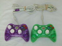 ROCK CANDY PL-3760 GREEN Purple Wired Controllers for Microsoft XBOX 360 + USBs
