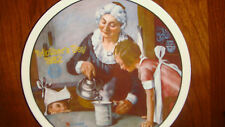 """Mother's Day 1982 Collector's Plate """"Cooking Lesson""""By Knowels #18653F First Ed."""