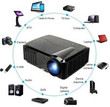 4K Portable 3D 2800LM Full HD 1080P Projector HDMI USB VGA Home Theater 1500:1