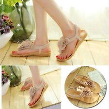 1 Pair female flower sandals For Women Elegant summer flat heel with