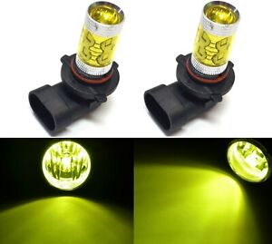 LED 50W 9005 HB3 Yellow 3000K Two Bulb Head Light High Beam Replace Xenon Color
