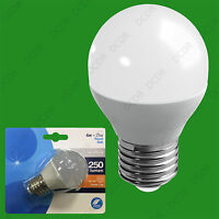 2x 4W (=25W) LED Frosted Golf Ball ES E27 Low Energy Round G45 Light Bulb Lamp