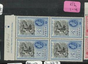 Sierra Leone SC 214 Imprint Block of 4 MNH (1elh)