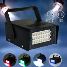3W 24 LED Strobe White Lights Operated DJ Disco Party Club Stage Lighting Effect