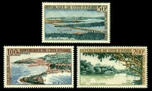 IVORY COAST Scott C22 to C24 Airmail SCENIC PLACES SET MLH $12 SEE PHOTO Q-474