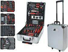 Werkzeugkoffer 187 teilig Werkzeug Trolley Werkzeugkiste Alukoffer Profi Silber