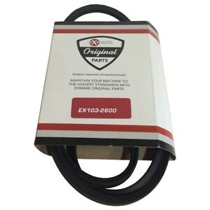 Exmark Hydraulic Pump Drive Belt Part # 103-2600 for Lazer Z XP Mowers