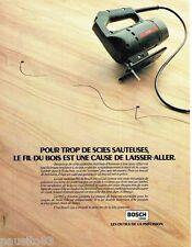 PUBLICITE ADVERTISING 126  1979   Bosch  outillage   scie sauteuse