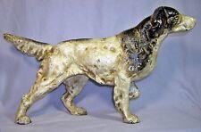 ENGLISH SETTER POINTER DOG CAST IRON DOORSTOP STATUE ~ Hunting Dog ~