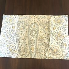 "Pottery Barn Floral Print Neutral Throw Pillow Cover 24""x16"""
