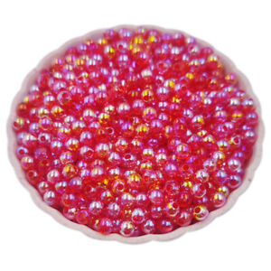 40-200Pcs 4 6 8mm AB Color Loose Beads DIY For Jewelry Making Wholesale Pendant