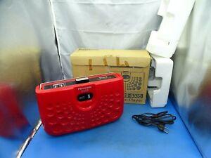 Vintage Panasonic Portable 8 Track Player Red #RF-833S Boom Box Style W/ Box