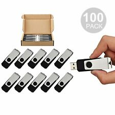 Lot 100 4GB Swivel USB 2.0 Flash Drive Thumb Pen Drive Rotating Memory Stick US