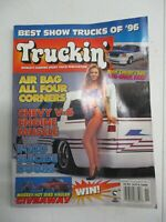TRUCKIN' MAGAZINE NOVEMBER 1996 CHEVY V6 ENGINE MUSCLE F-150 SUICIDE DOORS TRUCK