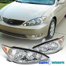 for 2005-2006 Toyota Camry Replacement Clear Headlights Chrome Driving Lamps