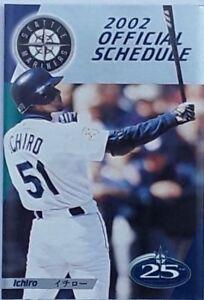 50 x 2002 Seattle Mariners Baseball Pocket Schedule-Ichiro Suzuki Investment Lot