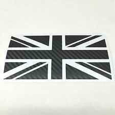 Supporto in fibra di carbonio Union Jack Gb Auto Adesivo Decalcomania Mini Jaguar Triumph Lotus