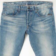 Mens G-Star STEAN TAPERED Slim Blue Jeans W36 L32