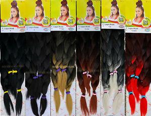 "X-Pression Xpression Lagos Braid Pre Stretched Braiding Hair Extensions 42 & 46"""