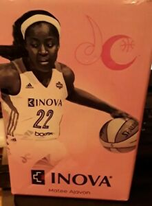 HTF Matee Ajavon WNBA Bobblehead NEW IN BOX Washington Mystics Basketball INOVA