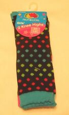 Girls Socks Shoe Size 6-10.5 Small Fruit of the Loom Knee Highs D6604