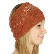 Sparkle Sequins Cable Knit Headband/Headwrap Women's Fall/Winter Rust