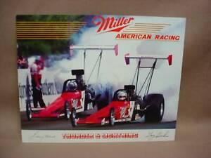 Miller Thunder & Lightning Signed Hero Photo American Racing NHRA Dragster 8X10