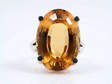 vintage Ring 15,00 Karat Citrin 585 Gold 14 Karat