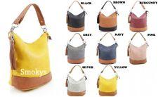 Ladies 9660 Bucket Style Hand Bag Women Girls Cross Body Shoulder Messenger Bag
