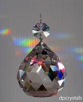 Hanging Crystal Ball + 1x Swarovski Octagon Sun catcher Feng Shui Rainbow Prism