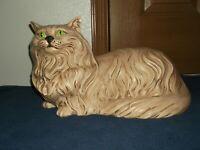 Vintage Handmade GIGANTIC Ceramic Persian Hearth Or Patio Or Garden Kitty Statue