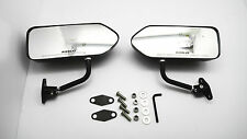 Custom GP Carbon Race Small Mirrors Auto/Bike F1 Type Kit Side Wing Pair RH+LH