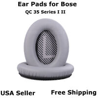 Ear Cushion Pads Pair Silver for Bose QuietComfort QC 35 Series I II Free Ship