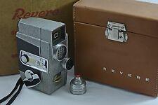 VINTAGE REVERE 8MM MODEL CA-3 EYE-MATIC WITH EXTRA LENS, CASE, BOX, INST. 1958