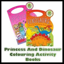 Dinosaur Colouring and Activity Book With 12pk Fibre Pens Carry Bag Book