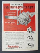 Original 1957 Magazine Chainsaw Ad  Remington Golden Logmaster Chainsaw + Tools