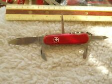 SALE!! Wenger Commander Swiss Army knife in red -  no holes pick and tweezers